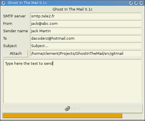 gitmail screenshot